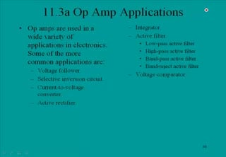 Tutorial explaining Op Amp Applications (Op Amps and Op Amp Circuits)