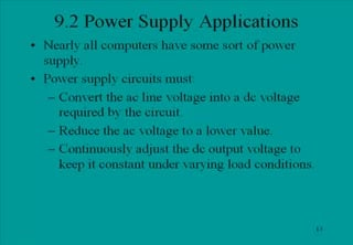 Tutorial explaining Power Supplies - Applications (Diodes and Diode  Circuits)