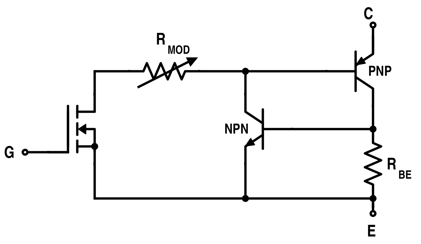 Equivalent Circuit for IGBT