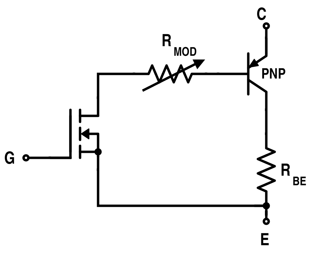 Simplified Equivalent Circuit for IGBT