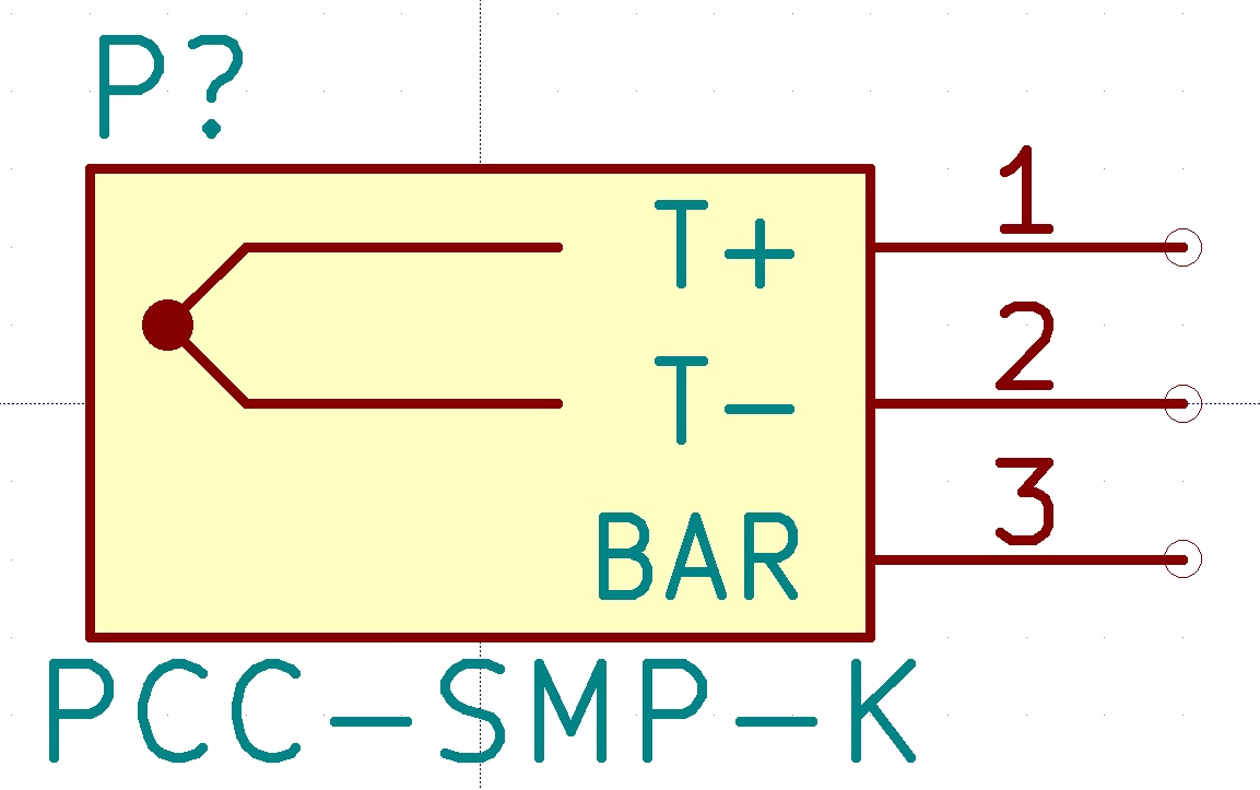 Build a thermocouple amplifier and custom kicad libraries symbol for thermocouple just to make things a bit clearer i also explicitly included the retaining bar as a pin so we can either ground it or leave it buycottarizona