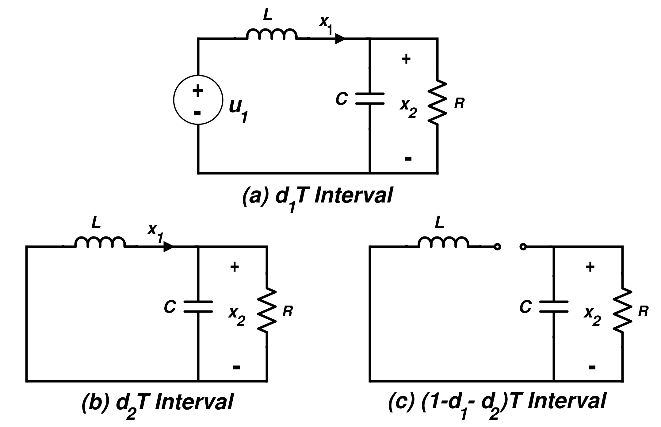 Switching States of the Buck Converter in Discontinuous Conduction Mode