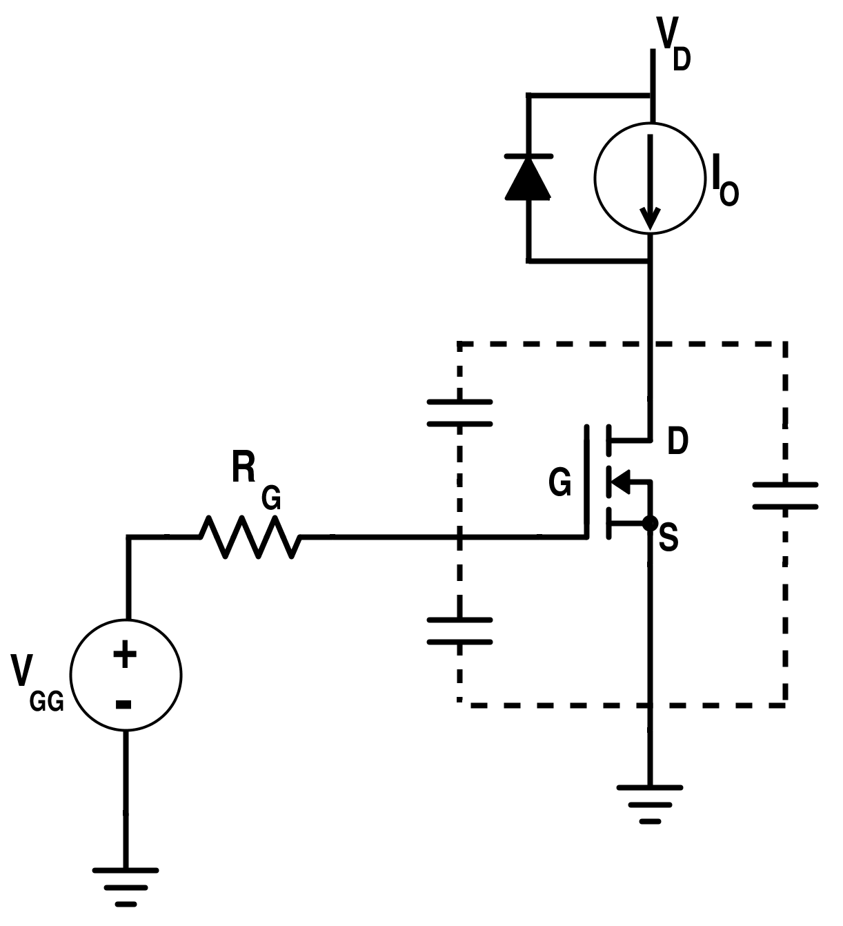 Switching Circuit for MOSFET with Clamped Inductive Load