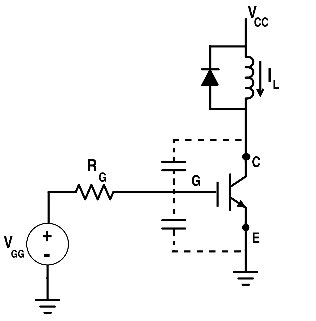 Switching Circuit for IGBT with Clamped Inductive Load