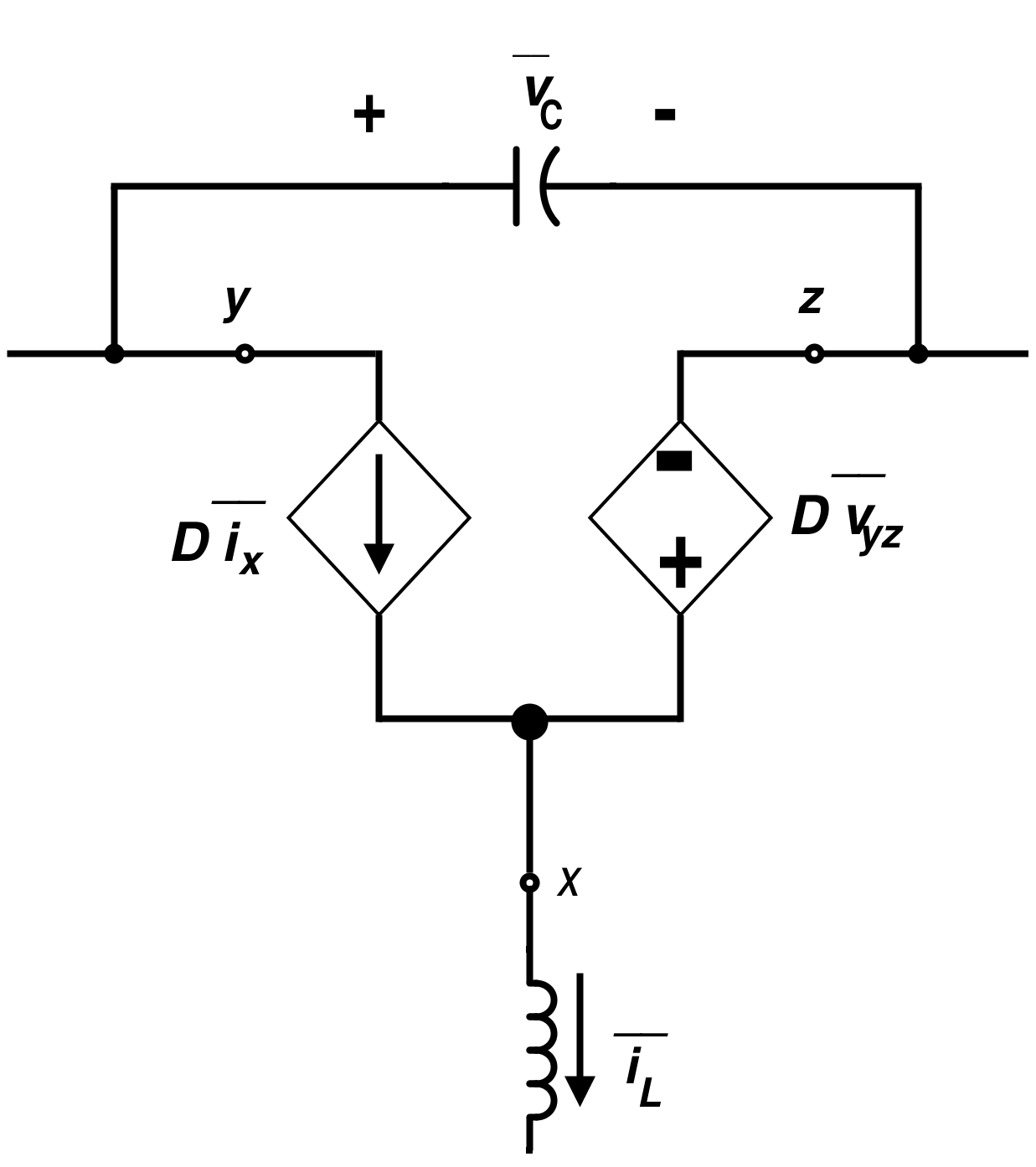 Average Circuit for a Standard Switch Under Continuous Conduction Mode