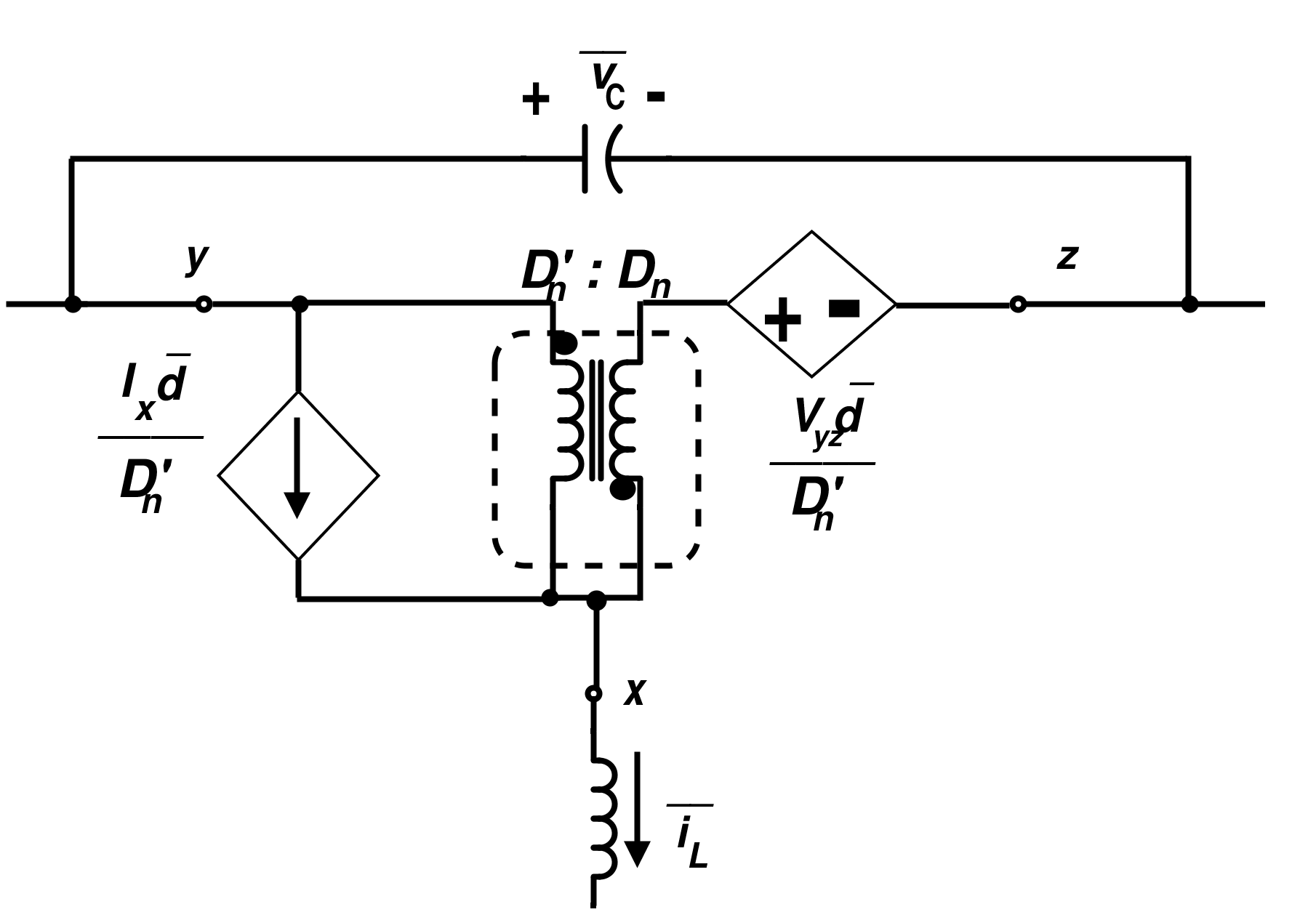 Linear Model for Switch Using an Ideal Transformer