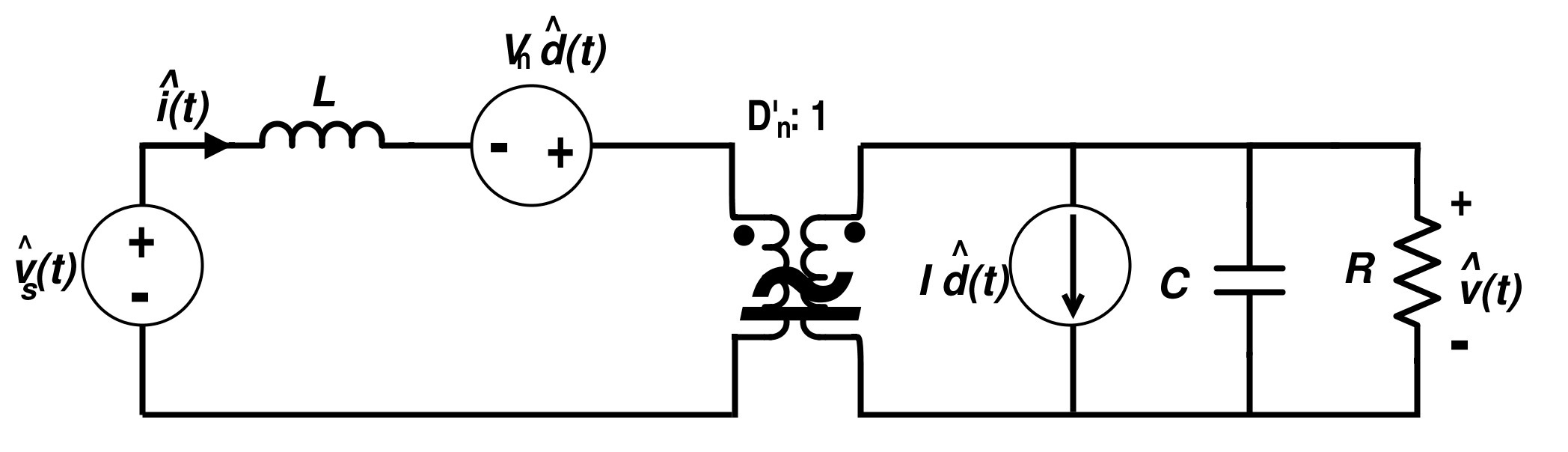 Linear Circuit Model for Boost Converter