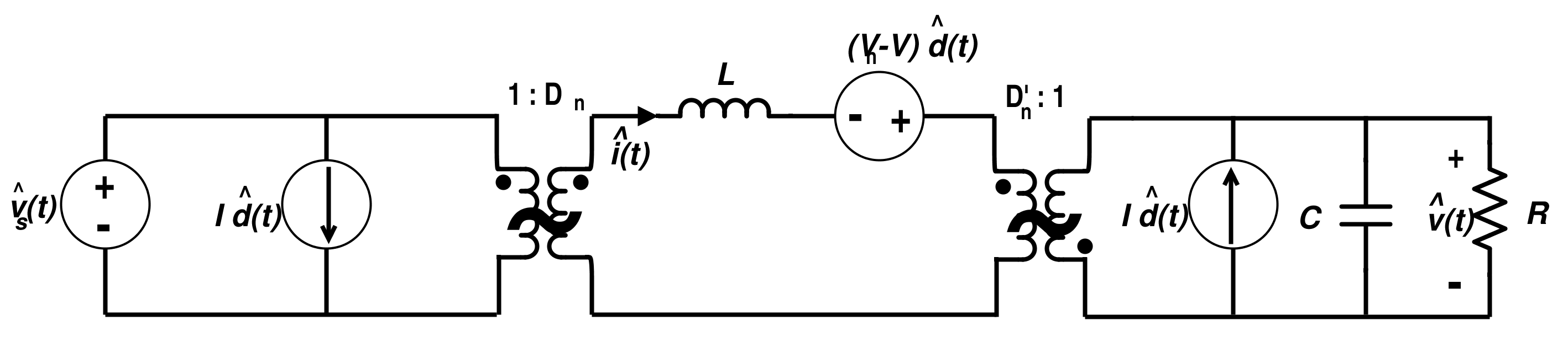 Linear Circuit Model for Buck-Boost Converter