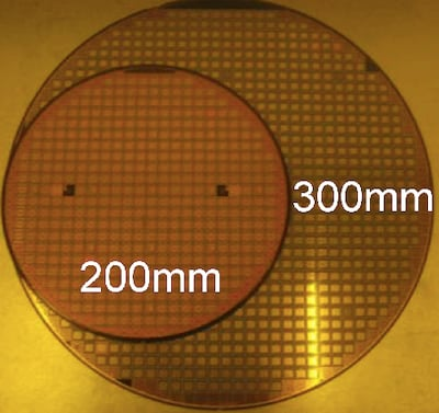 200mm and 300mm wafers