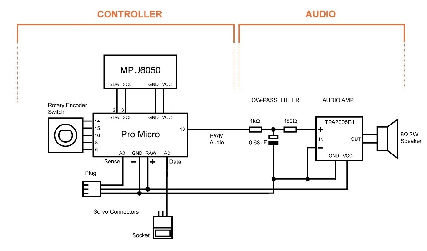 Build Your Own Led Saberfirmware Microcontroller And Testing Okl2 Wiring Diagram Connect The Audio Module