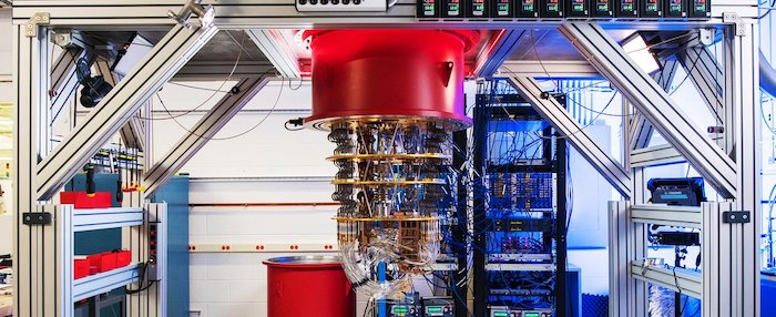 Current quantum computers can be the size of rooms, as shown by Google's Sycamore quantum computer.