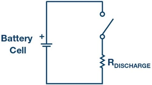 Passive balancing circuit scheme.