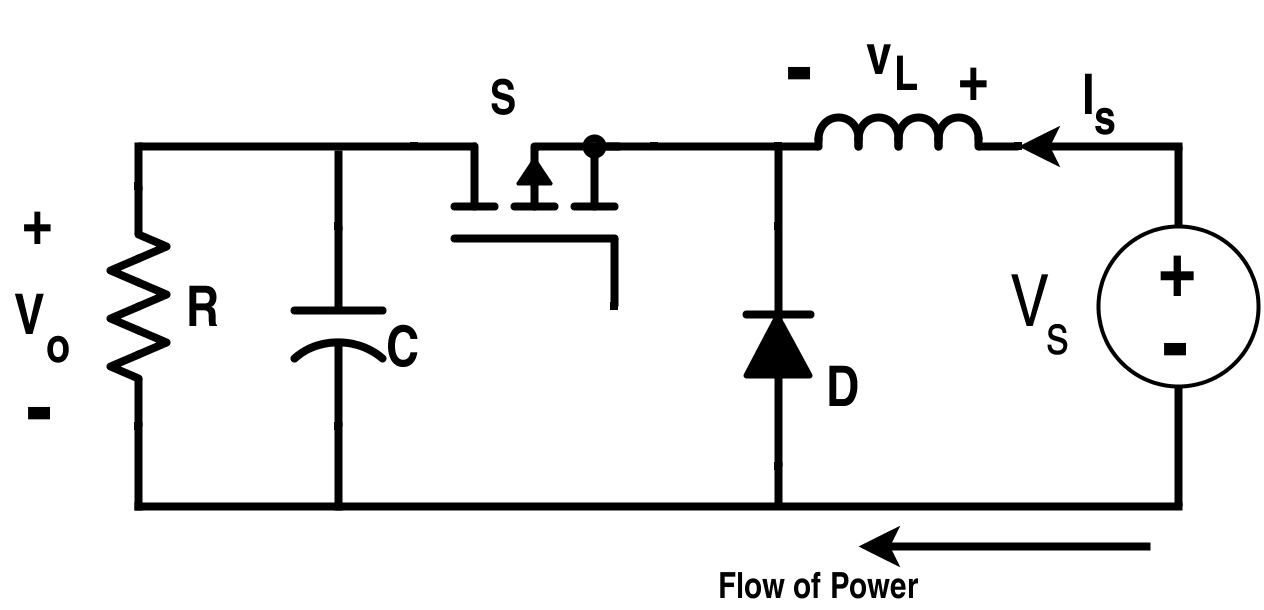Buck Converter with Source and Load Inverted