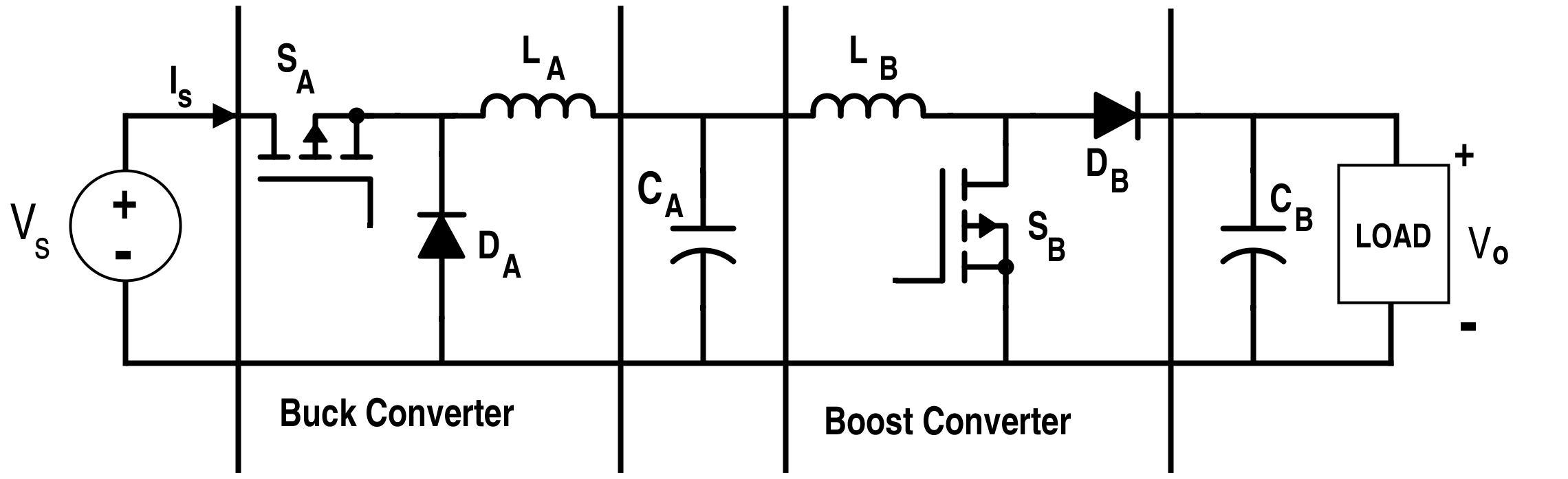 Cascaded Buck and Boost Converter