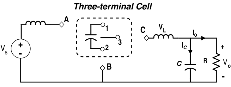 Three-Terminal Cell Configuration (Using Capacitor and Switch)