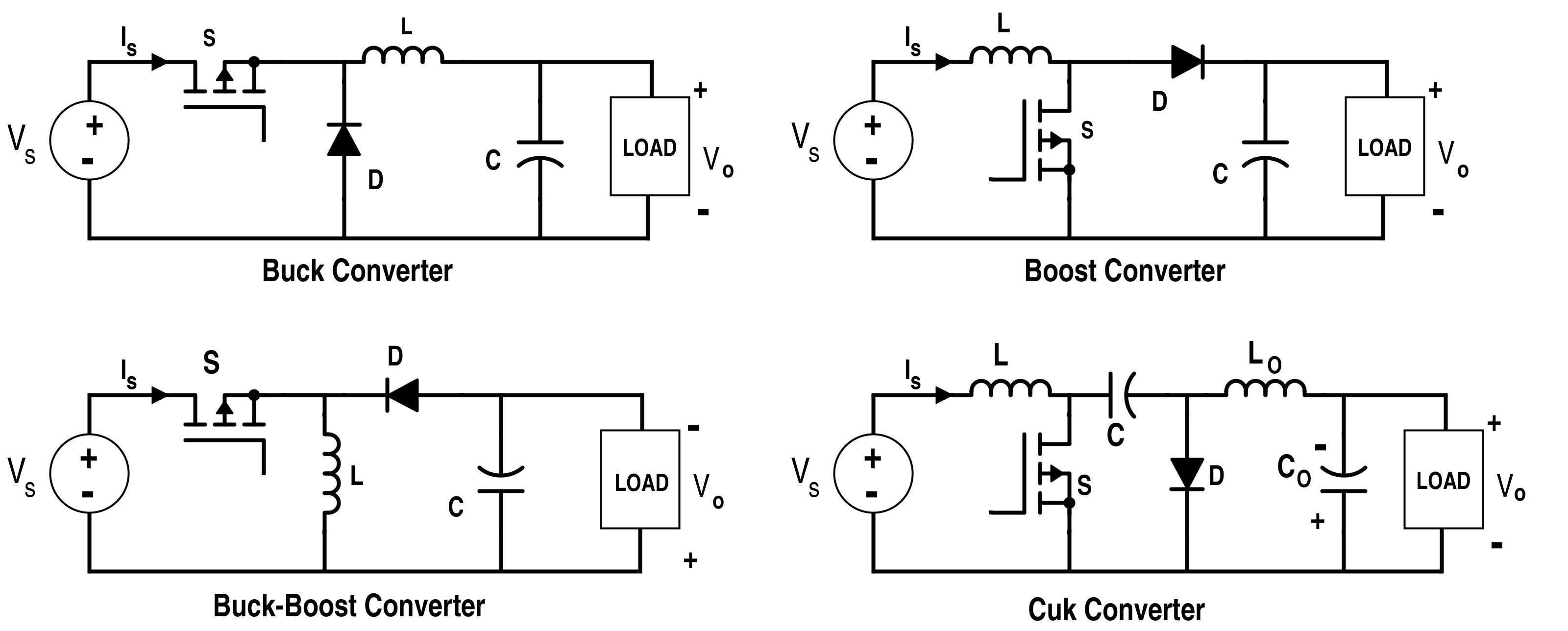 Analysis Of Four Dc Converters In Equilibrium Low Pass Filter Circuit Diagram Basiccircuit Basic
