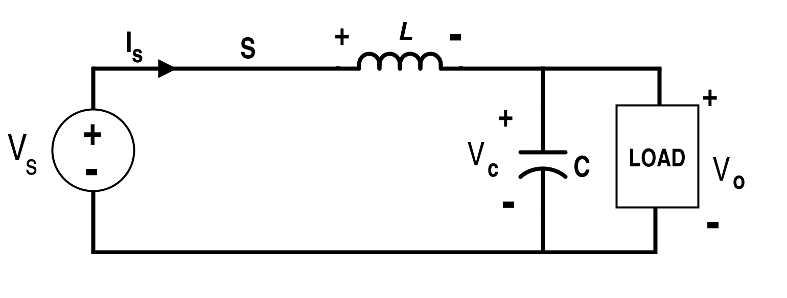 Buck Converter Circuit when Switch S is On (Mode-I)