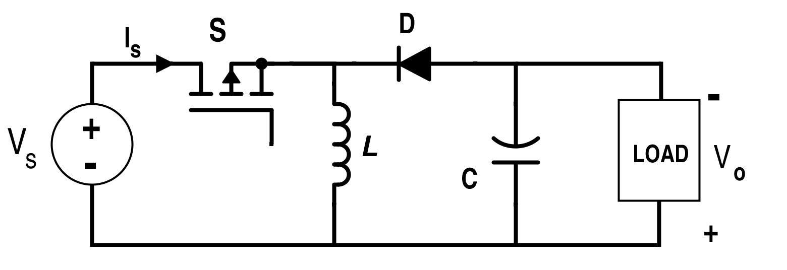 Analysis Of Four Dc Converters In Equilibrium Low Pass Filter Circuit Diagram Basiccircuit Buck Boost Converter