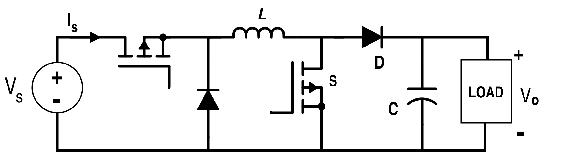 Positive-Output Buck-Boost Converter Circuit Diagram
