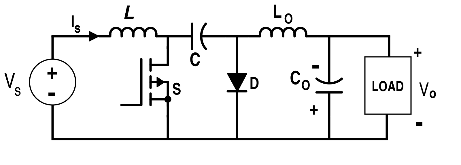 Cuk Converter Circuit Diagram