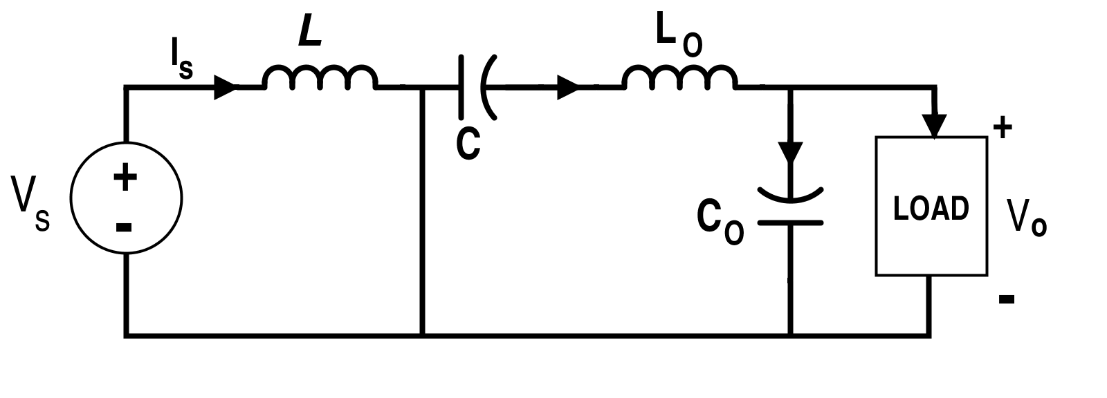 Cuk Converter Circuit when Switch S is On (Mode-I)