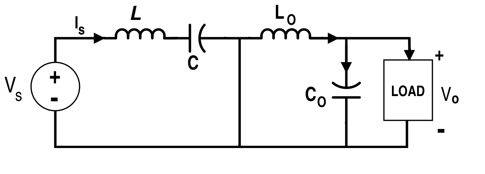 Cuk Converter Circuit when Switch S is Off (Mode-II)
