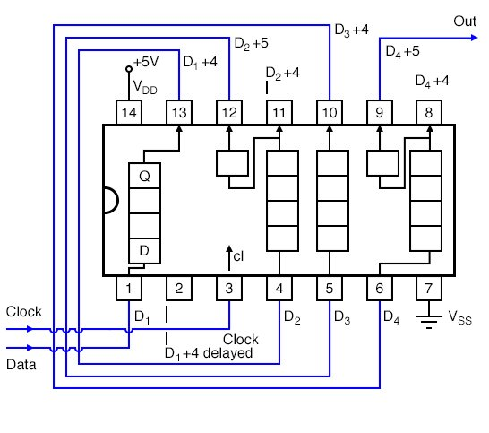 Shift Registers Serial In Serial Out Shift Registers Electronics Textbook