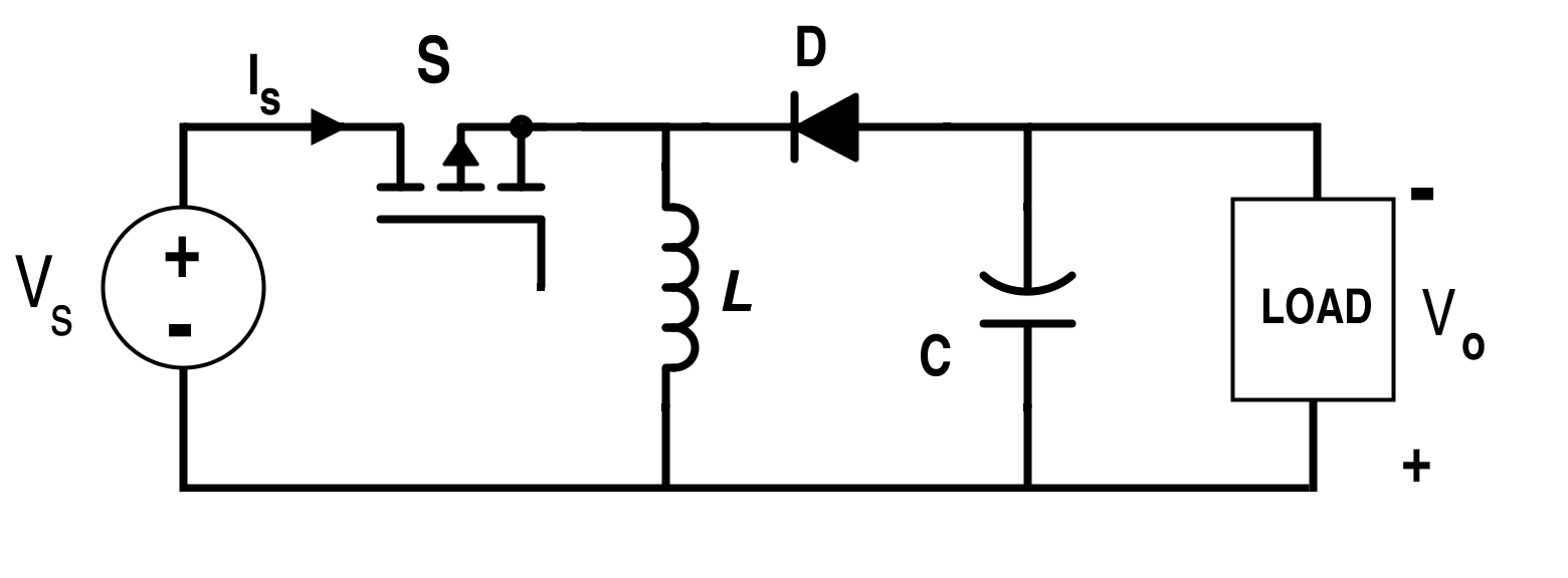 Discontinuous Conduction Mode Of Simple Converters on Buck Boost Converter Circuit