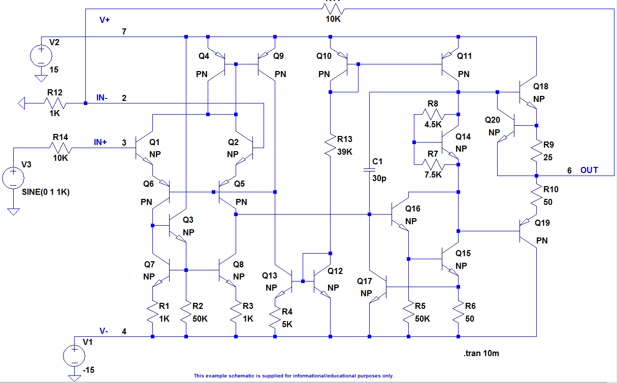 Use Ltspice To Understand The Lm741 Opamp Operational Amplifier Circuits Connected Digital What Heck Is A Differential