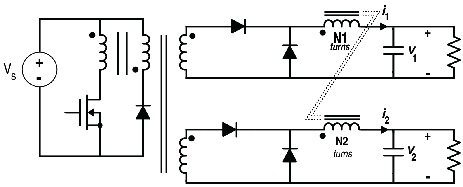 Understanding Inductor Designs For Converters How An Can Work In A Circuit This Figure Is Helpful The Two Output Forward Converter