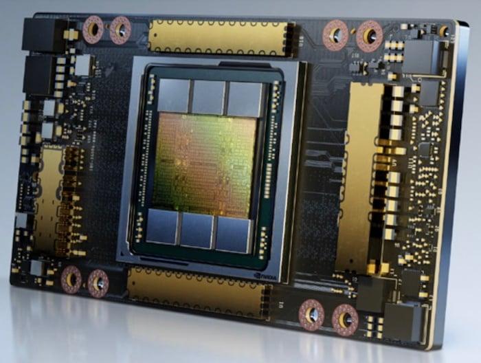 NVIDIA's A100 Tensor Core GPU.