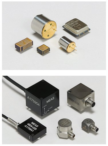 AC-response accelerometers (top) vs. DC-response accelerometers (bottom)