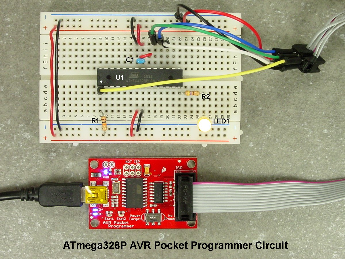 Breadboarding and Programming the ATmega328P & ATtiny45 in