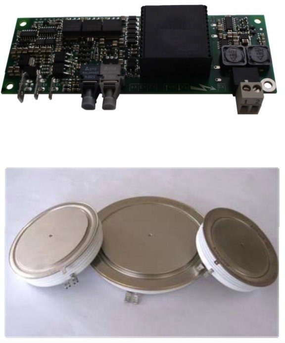 A C044BG400 family gate driver with its associated press-pack IGBT