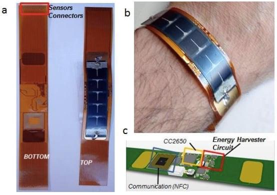 A solar energy-harvesting wearable