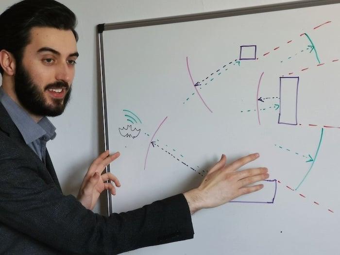Alex Bowen explains echolocation technology