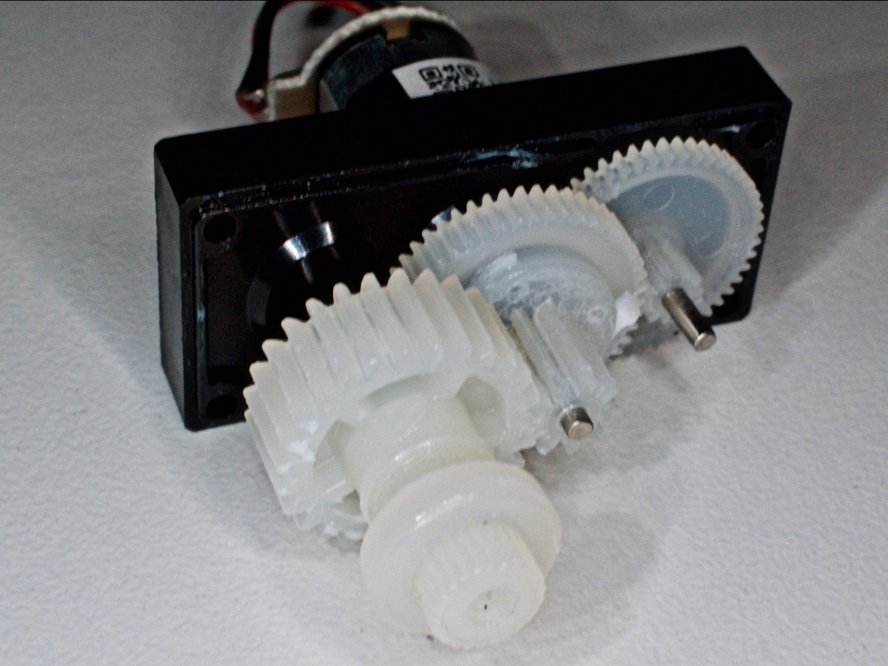 The plastic drive motor gears