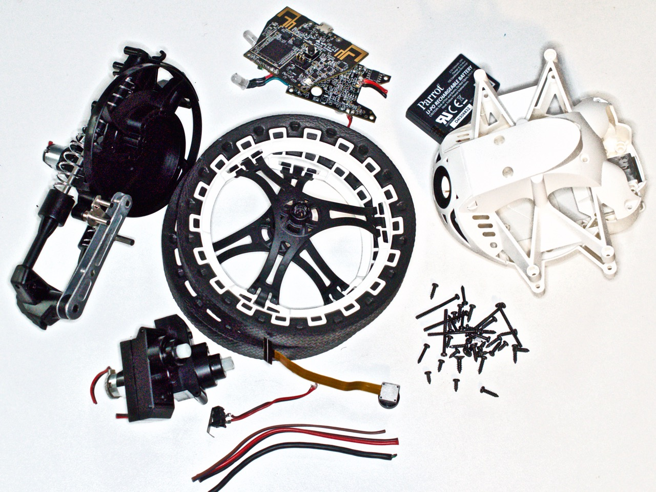 Pile of robot parts