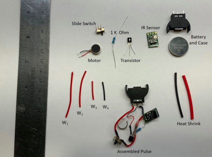 All the electronic parts needed to create PULSE