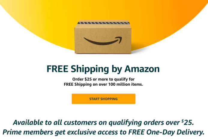 Amazon's shipping policy