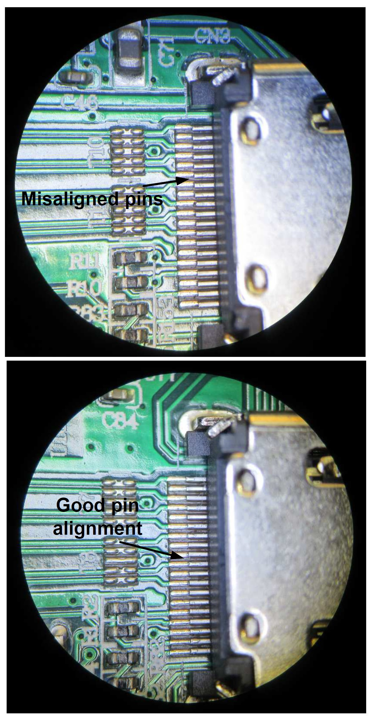 Teardown Tuesday A Powered Ultra High Definition Hdmi Splitter News Highdefinition Multimedia Interface Connector Diagram The Figure Below Shows Both Good Alignment And Misaligned