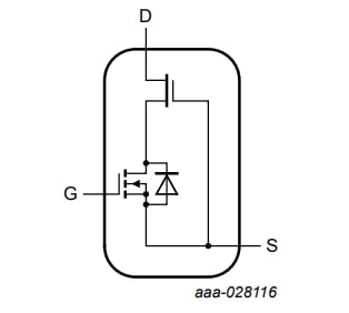 An equivalent circuit for the GAN063-650WSA
