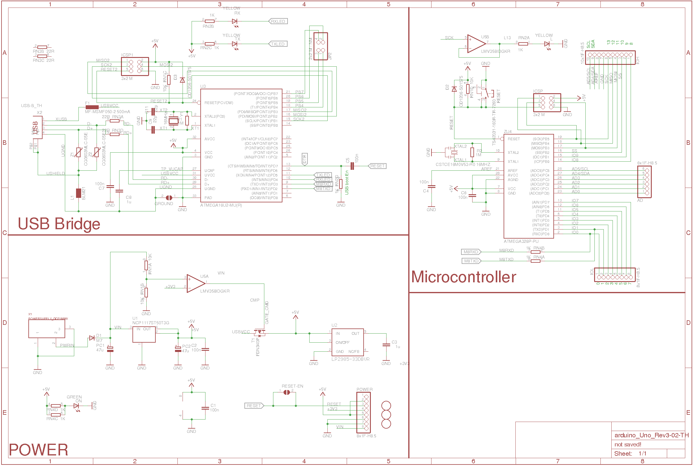 Redistributed Version of Original Arduino Schematic