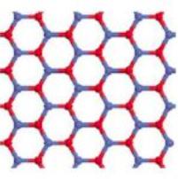 Óxido de manganês em forma de treliça tipo favo de mel