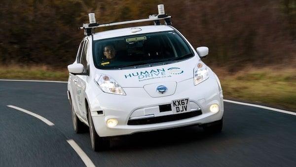 Autonomous vehicle Nissan Leaf.