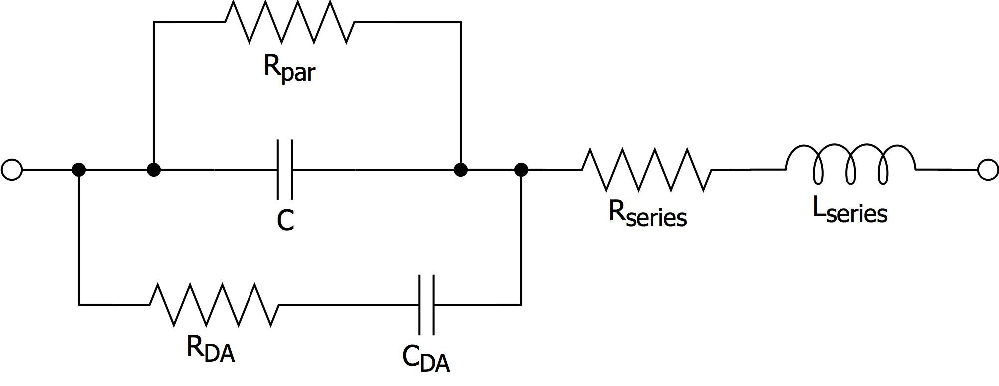 Clean Power For Every Ic Part 2 Choosing And Using Your Bypass Capacitor Circuit This Discussion We Dont Need To Worry About Rpar Which Accounts Leakage Current Through The Dielectric Or Rda Cda Together Account