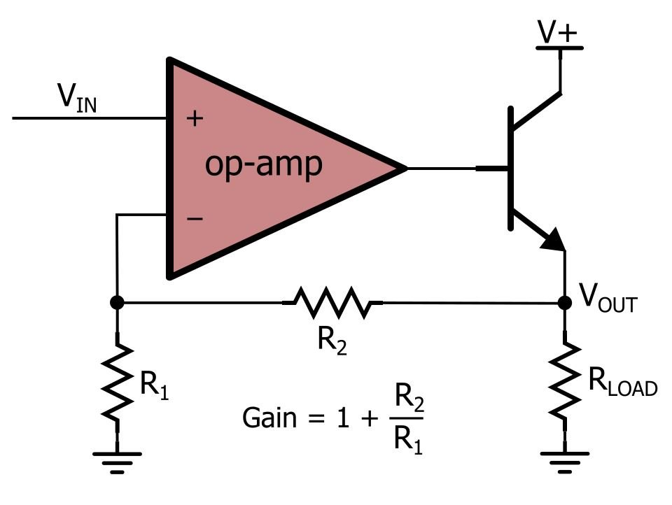 How To Buffer An Op   Output For Higher Current Part 1 on pnp transistor amplifier circuit