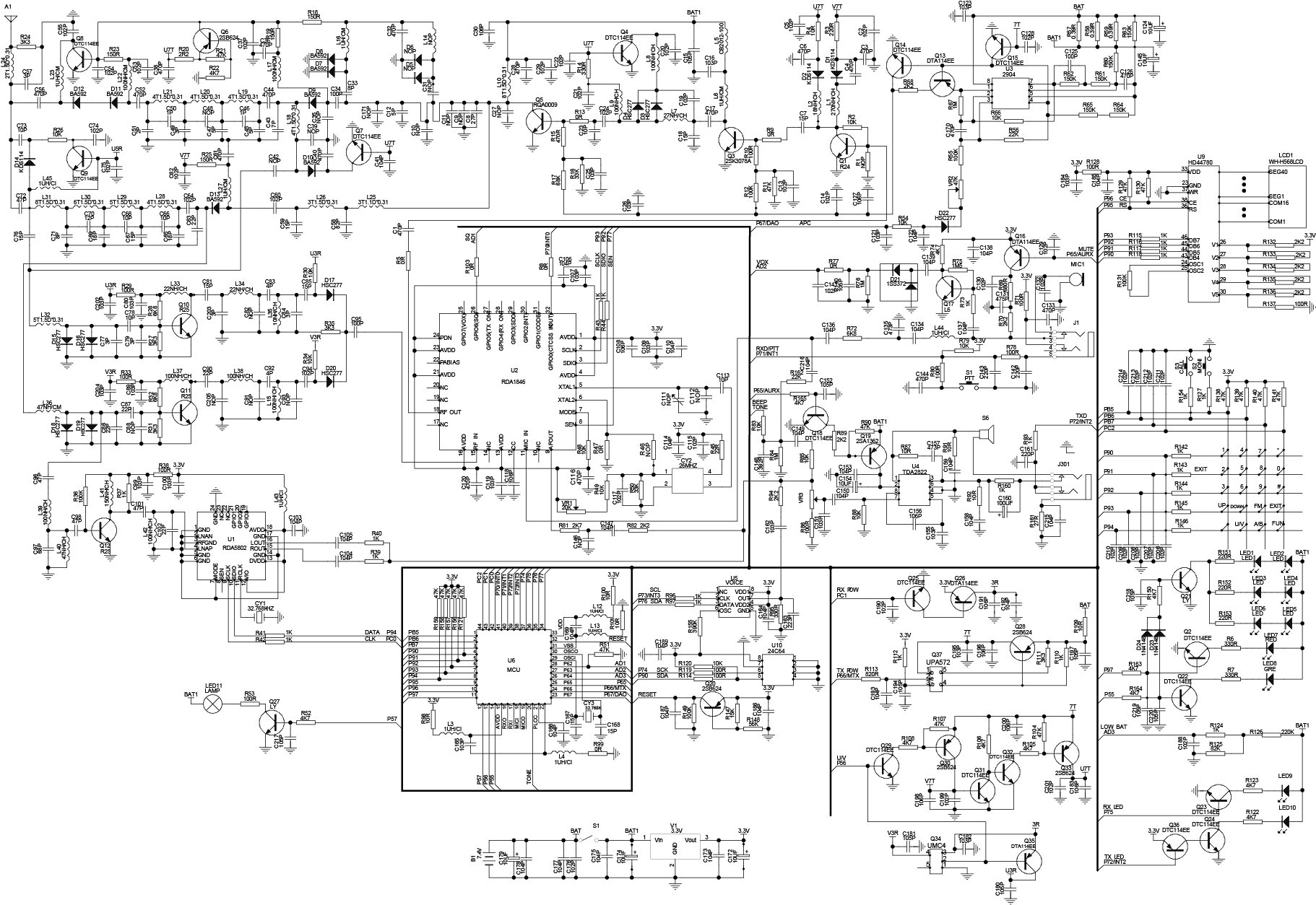 Teardown Tuesday Baofeng Amateur Radio Transceiver on schematic circuit diagram