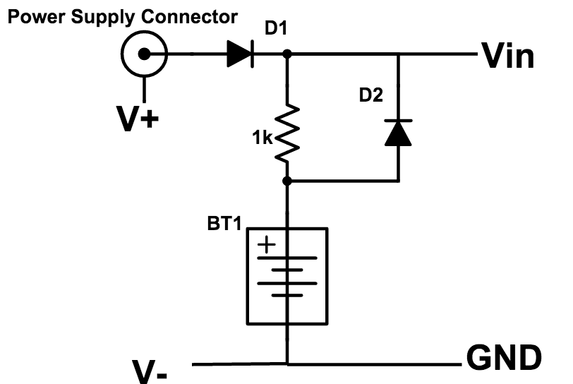 Battery Backup Power Supplies on simple battery charger circuit