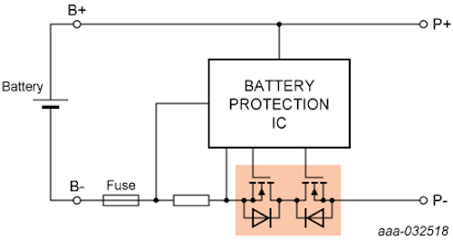 Block diagram of ASFETs for battery isolation